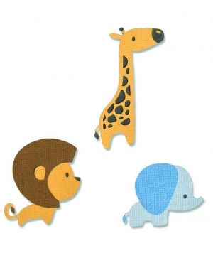 Sizzix Thinlits Die Set - Baby Jungle Animals 663580