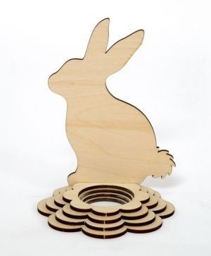 Wooden stand for egg - Rabbit IDEA1784