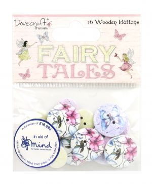 Dovecraft Wooden Buttons (16pcs) - Fairy Tales DCWDN081
