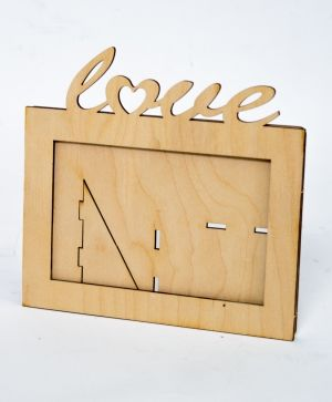 Wooden frame Love - IDEA1439