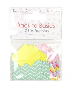 Dovecraft Mini Envelopes (10pcs) - Over the Rainbow  DCTOP126