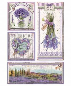 Decoupage Rice Paper A4 - Provence frames DFSA4364