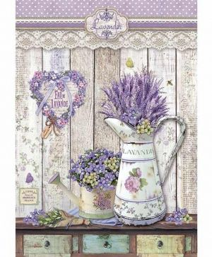 Decoupage Rice Paper A4 - Provence shabby watering cans DFSA4365