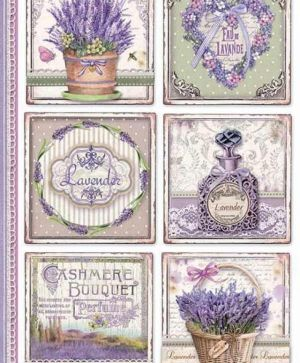Decoupage Rice Paper A4 - Provence cards DFSA4366