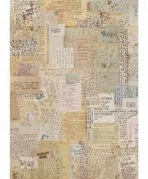Decoupage Rice Paper A4 - Background notes DFSA4376