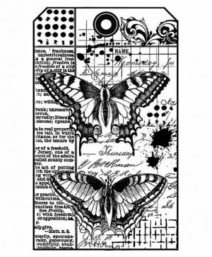 Rubber stamp 7x11xm - Butterfly WTKCC145