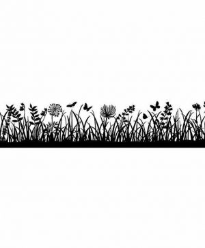 Rubber stamp 4x18cm - Meadow WTKCC148