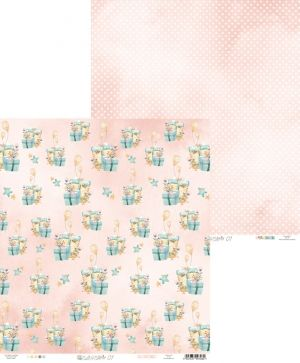 "Double-sided scrapbook paper 12""x12"" - Cute & Co. 01 P13-219"