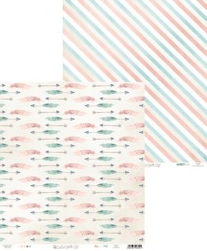 "Double-sided scrapbook paper 12""x12"" - Cute & Co. 02 P13-220"