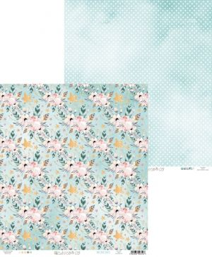 "Double-sided scrapbook paper 12""x12"" - Cute & Co. 03 P13-221"