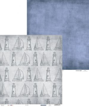"Double-sided scrapbook paper 12""x12"" - Off shore II 03 P13-295"