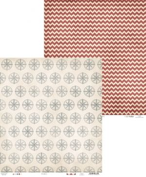 "Double-sided scrapbook paper 12""x12"" - Off shore II 04 P13-296"