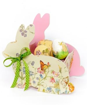 Wooden basket for eggs - Rabbit IDEA1785