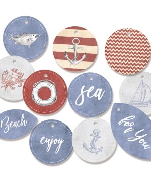 Tags 11 pcs - Off Shore II 01 P13-307