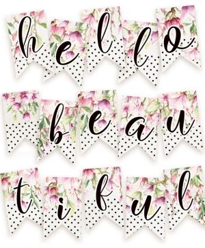 Decorative flags / banners 15pcs - Hello Beautiful P13-216