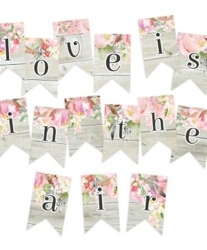 Decorative flags / banners 15pcs - Love in Bloom P13-262