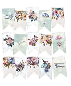 Decorative flags / banners 15pcs - When we first met P13-392