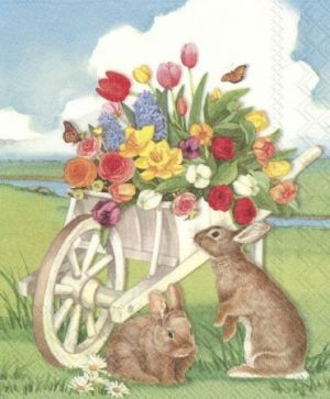 Decoupage napkins 33x33cm, 20 pcs. - EASTER BARROW L813300