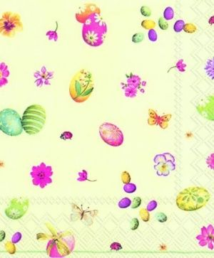 Decoupage napkins 33x33cm, 20 pcs. - LITTLE EASTER EGGS L732129