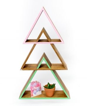 Wooden shelf, set of 3pcs - triangle IDEA1733
