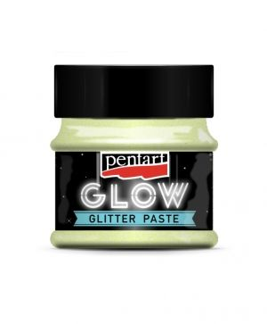 Glow glitter gel 50 ml - rainbow green P36089