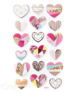 Foam stickers 18 pcs - Hearts DPPI-018