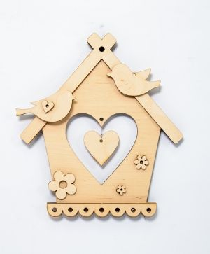 Wooden decoration - Bird house IDEA1787