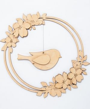 Wooden decoration - Spring wreath IDEA1788