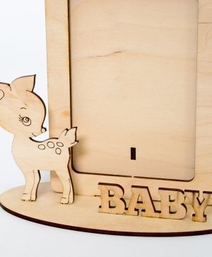 Wooden fame - Baby deer IDEA1789