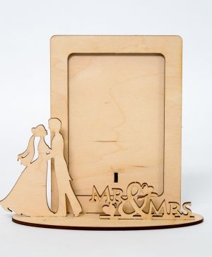 Wooden fame - Mr & Mrs IDEA1791