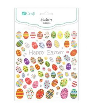 Stickers 80 pcs - Easter eggs DPNK-012