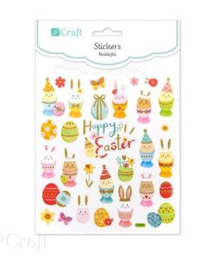 Glitter stickers 29 pcs - Easter eggs DPNB-088