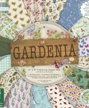 "First edition 6""x6"" Paper Pad - Gardenia FEPAD205"