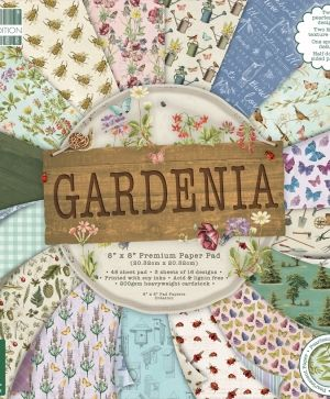 "First edition 8""x8"" Paper Pad - Gardenia FEPAD204"