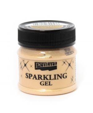 Sparkling gel 50 ml - transparent gold P36074