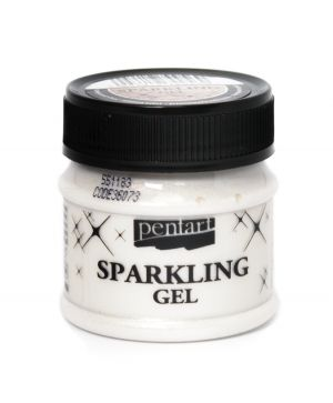 Sparkling gel 50 ml - transparent silver P36073