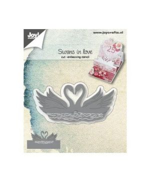 Cutting, embossing stencil -  Swans in love 6002-1310