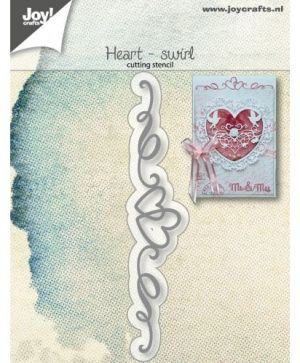 Cutting  stencil - Heart-swirl 6002-1266