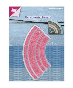 Cutting, embossing  stencil - Mery's Quarter borders 6002-1160