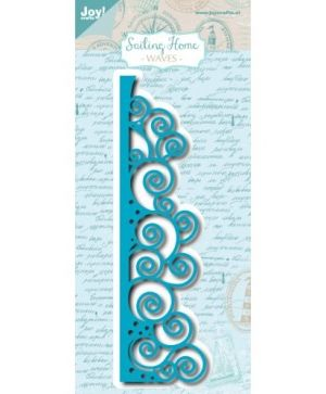 Cutting, embossing  stencil - Sailing Home - Waves 6002-1128