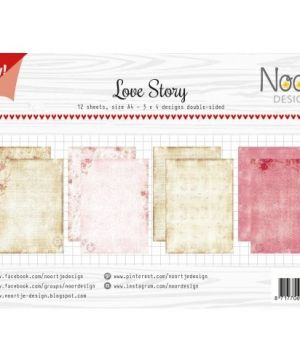 Paper pad A4 12 sheets - Love Story 6011-0600