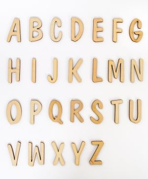 Wooden letters 5 cm, 1 pcs - Latin IDEA01795
