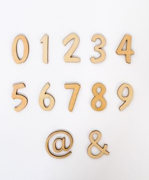 Wooden numbers 5cm, 1 pcs - IDEA01796
