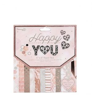 Dovecraft -  Happy You 6x6 Paper Pad - DCPAP139