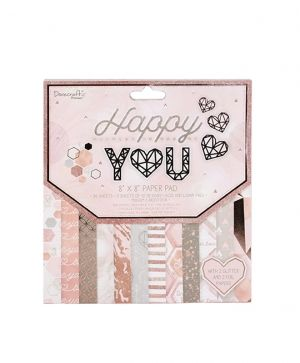 Dovecraft - Happy You 8x8 Paper Pad - DCPAP138