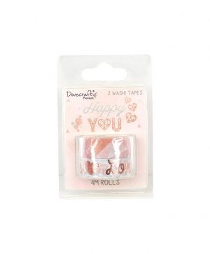 Dovecraft Premium Washi Tape Pack - Happy You DCWST018