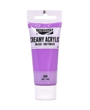 Creamy acrylic paint semi-gloss 60 ml - lilac P27973