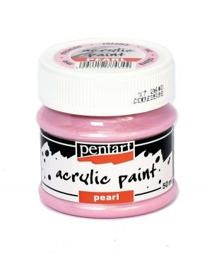 Acrilyc paint pearl 50ml - pink P3536