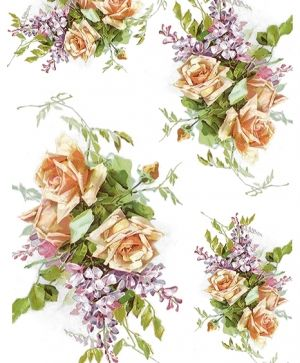 Decoupage Rice Paper A4 - Roses and lilacs ITD-R1206