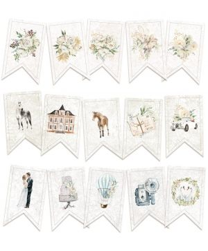 Decorative flags / banners 15pcs - Truly Yours  P13-TRU-32